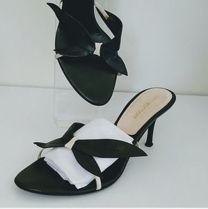 Sergio Rossi heel sandal black shoe.